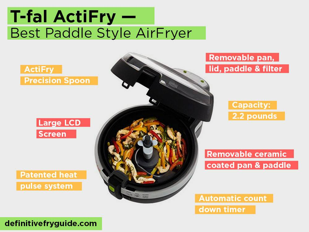 T-fal ActiFry Review, Pros and Cons. Check our Best Paddle Style AirFryer 2018